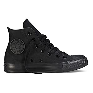 Converse Unisex Chuck Taylor All Star Hi Top Sneaker (15 B(M) US Women / 13 D(M) US Men, Black Monochrome)