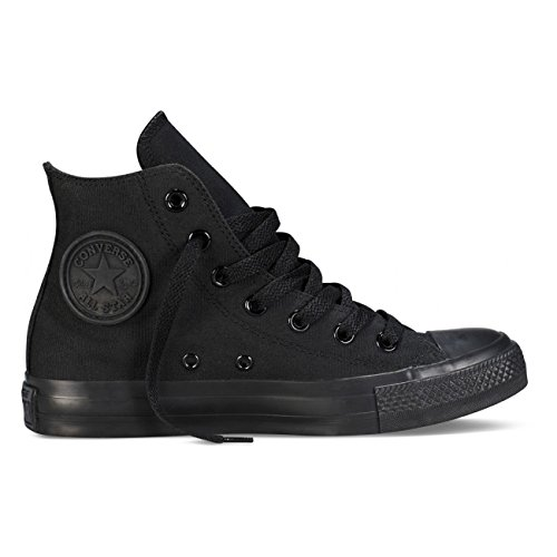 Converse Mens C Taylor A/S HI Sneakers (7.5 Men 9.5 Women, Black Monochrome)