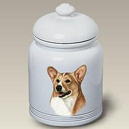 Welsh Corgi Pembroke T/W Dog Treat Jar by Tamara Burnett