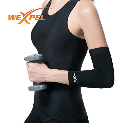Wexpel™ Copper Infused Elbow Compression Sleeve - Relieve and Heal Stiff, Strained, Sore and Aching Arms/Elbow Joints- 2X-Large (Ice Therapy Machine Breg compare prices)