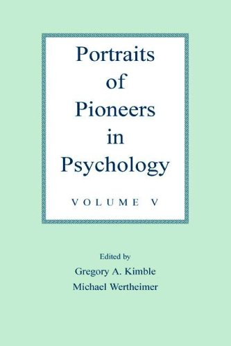 Portraits of Pioneers in Psychology: Volume V: v. 5