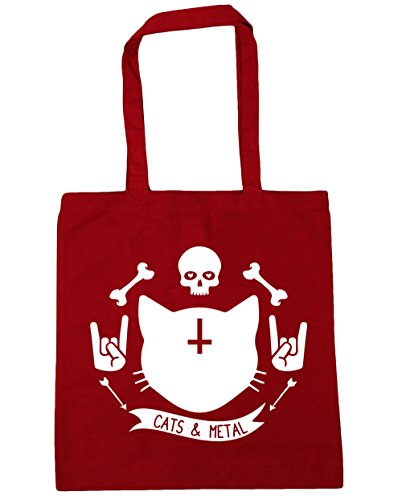 hippowarehouse-cats-and-metal-tote-shopping-gym-beach-bag-42cm-x38cm-10-litres