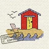Mouseloft Mini Cross Stitch Kit - Beach Hut, By the Seaside Collection