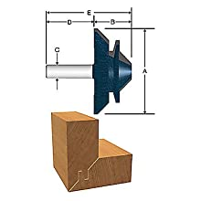 Bosch 84508M 3-1/8-Inch Diameter 1-3/8-Inch Cut Carbide Tipped Lock Miter Router Bit 1/2-Inch Shank