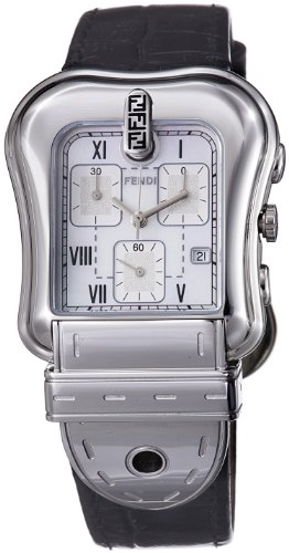 Fendi B.Fendi Black Strap Chronograph Mother-of-Pearl Dial Women's Watch #F391141