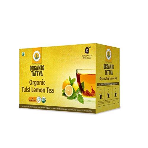 Organic Tattva Tulsi Lemon Tea, 20 Tea Bags