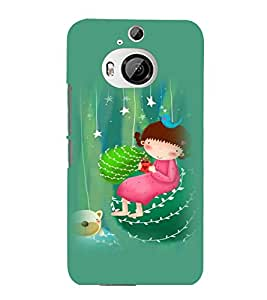 printtech Girl Teddy Back Case Cover for HTC One M9+::HTC One M9 Plus