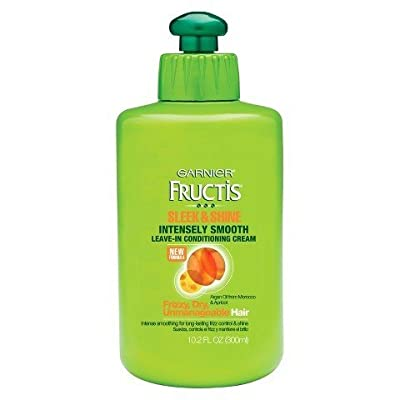 Garnier Fructis Style Sleek & Shine Intensely Smooth Leave-In Conditioning Cream, 10.2 fl oz