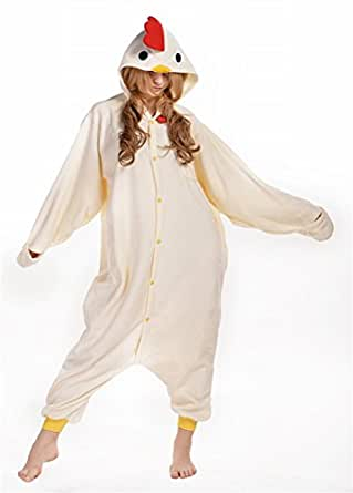 Adults Unisex Chicken Pajamas Costume Cosplay Homewear Lounge Wear