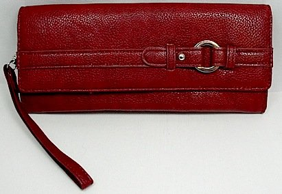 Mundi 3 For All Wristlet /Clutch /Pebble Rock Wallet ~ Red