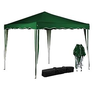 Tente pavillon tonnelle de jardin couleur 3x3 m tres vert - Tonnelle de jardin pliable ...