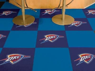 "Oklahoma City Thunder NBA Carpet 18""x18"" Tiles"