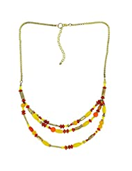 Elegant Yellow Necklace Designer Contemporary Fashion Jewellery Indian