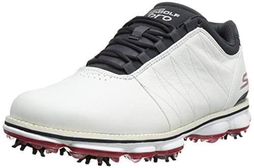 Skechers Performance Men's Go Golf Pro Golf Shoe, White/Navy/Red, 10 M US