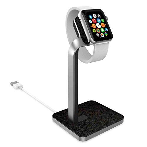【日本正規代理店品】mophie watch dock for Apple Watch (レザー&アルミニウム製スタンド) MOP-ST-000003