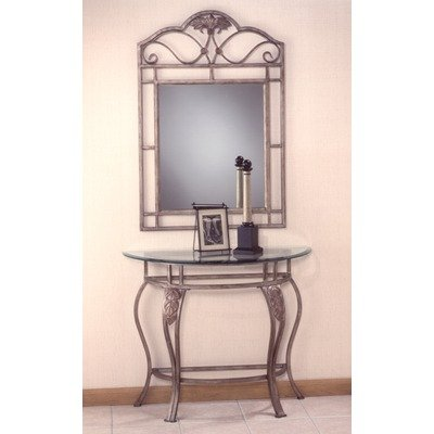 Image of Bordeaux Console Table with Glass Top and Mirror (40544/49545 and 40543)