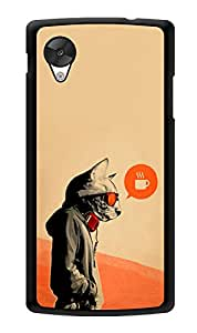 "Humor Gang Trendy Cat Vintage Printed Designer Mobile Back Cover For ""Lg Google Nexus 5"" (3D, Glossy, Premium Quality Snap On Case)"