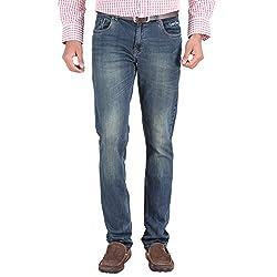 Trigger Men's Regular fit Blue JeansR44L-174S
