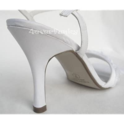 satin wedding shoes F91