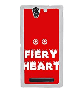 Fiery Heart 2D Hard Polycarbonate Designer Back Case Cover for Sony Xperia C3 Dual :: Sony Xperia C3 Dual D2502