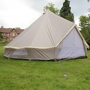 Lightweight Zipped In Ground Sheet Bell Tent (Size: 5 Metre)