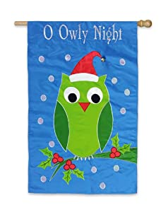 O Owly Night Christmas Decorative Applique