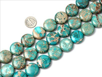 20mm coin blue crazy lace agate beads strand 15