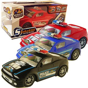 Shake & Go Police Car 1 Per Order