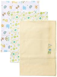 Spasilk Unisex-Baby Newborn 3 Pack Burp Cloths, Yellow Baby, One Size