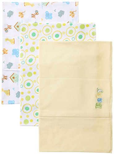 Spasilk Unisex-Baby Newborn 3 Pack Burp Cloths, Yellow Baby, One Size