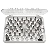 Ateco 55-Piece Stainless Steel Decorating Tube Set with Hinged Storage Box