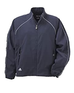 Adidas Jacket Ladies Climashell Full-Zip Piped Golf Windshirt A24 by adidas