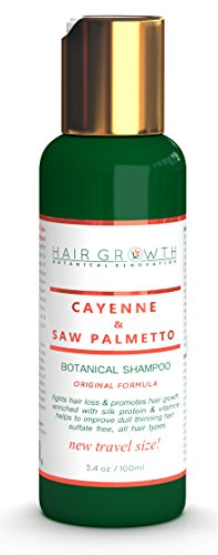 Anti-Hair Loss Shampoo Cayenne Saw Palmetto / Organic Shampoo SLS-Free. Scalp Stimulating Botanical Formula Hair Growth Therapy Natural DHT Blocker...