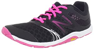 New Balance Women's WX20v3 Minimus Cross-Training Shoe,Black/Pink,8 B US