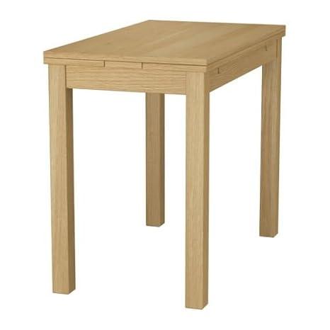 IKEA BJURSTA - Table extensible, placage chêne - 50/70 / 90x90 cm