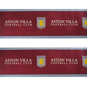 Aston Villa F.C. Wallpaper Border- wallpaper border- width 17.5cm- length 5m- official licensed product from Wallpaper / Lighting