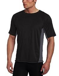 Kanu Surf Men\'s Big CB Extended-Size Rashguard UPF 50+ Swim Shirt, Black, 4X
