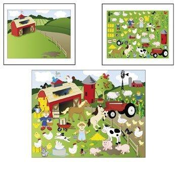 12 Make-a-farm Sticker Scenes 12 Sticker Sheets 12 Background Sheets