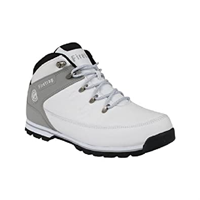 firetrap mens rhino boots white grey 13 co uk