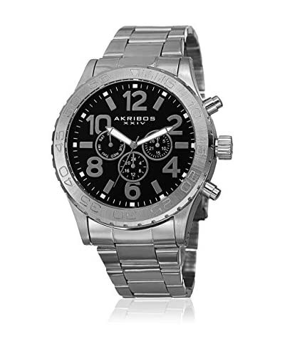 Akribos XXIV Reloj con movimiento cuarzo suizo Man AK763SSB 50 mm