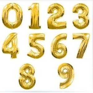 41e2e6ba4722f 超 ビッグ 風船 数字 ナンバー 飾り 誕生日 ハッピーバースデー イベント パーティー