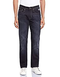 Pepe Jeans Men's PM201754G684-3 Relaxed Fit Jeans (8903872859825_PM201754G684_28W x 34L_Fad Blk)