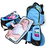 Boogaloo 58 - Seashell Blue Diaper Bag Backpack ~ Boogaloo