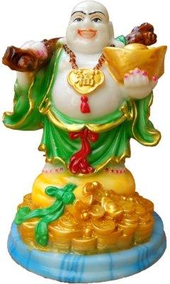 JaipurCrafts Colorful Laughing Buddha Showpiece 16.5 cm