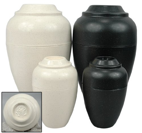 Urnee Cremation Urns for Pets - Black - For animals up to 15 lbs