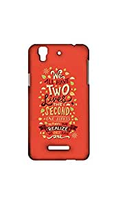 We All Have Two Lines Designer Mobile Case/Cover For MICROMAX YUREKA