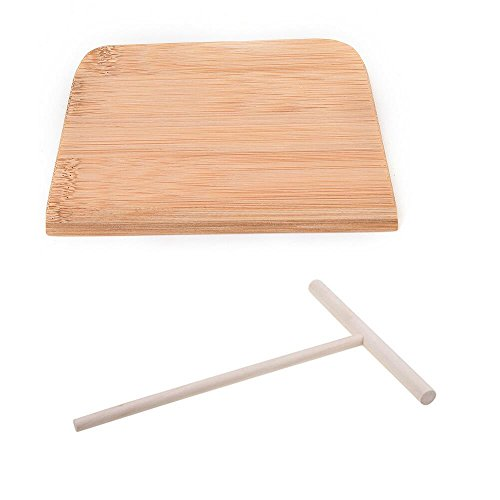 Read About 2 Pcs Wooden Rake Round Batter Pancake Crepe Spreader Kitchen Tool Kit DIY by Crqes
