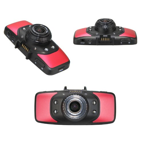 2.7 inch HD TFT LCD Vehicle Car DVR Video Recorder Camera Road Safety Guard Built-in GPS with G-sensor Motion Detection-Red