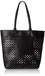 MILLY Unlined Perforated Tote Shoulder Bag