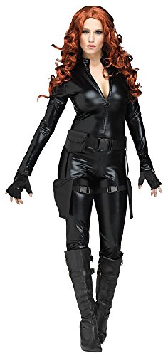 [Adult Midnight Ops Costume - Secret Agent - Black Widow - Small (4-6)] (Secret Agent Woman Costume)